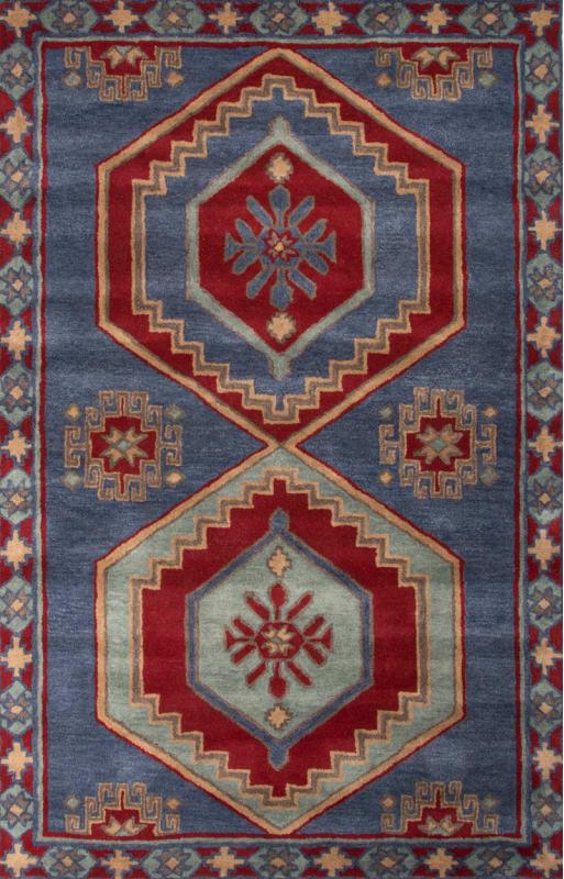 Jaipur Jameson Bijou Blue Rug Contemporary Tribal Pattern Wool Preston Sale $552.00 ITEM: bci2830993 ID#:RUG125282 UPC: 887962516301 :
