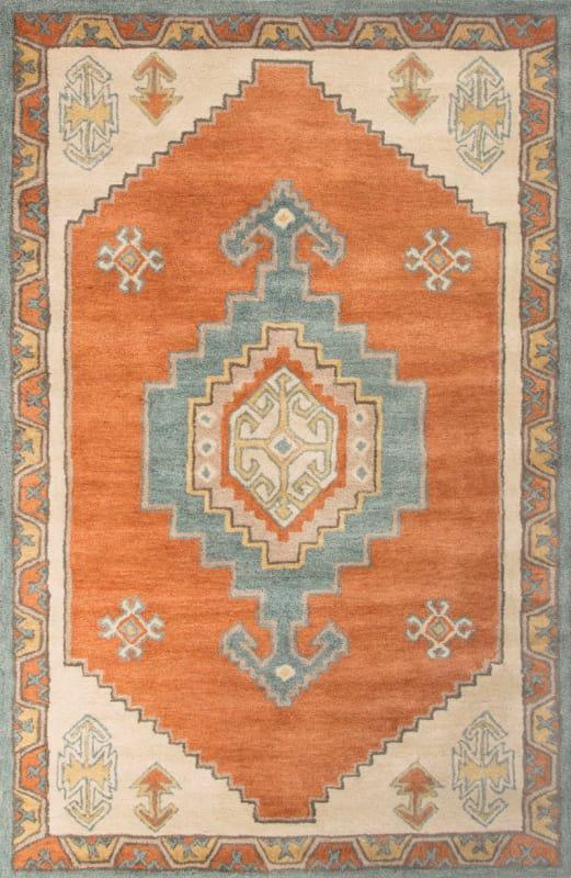 Jaipur Saratoga Apricot Orange Rug Contemporary Tribal Pattern Wool Sale $552.00 ITEM: bci2831971 ID#:RUG125289 UPC: 887962516332 :