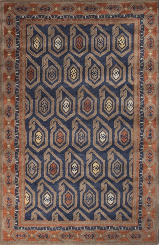 Jaipur Oakland Insignia Blue Rug Contemporary Tribal Pattern Wool Sale $88.00 ITEM: bci2831552 ID#:RUG127802 UPC: 887962523286 :