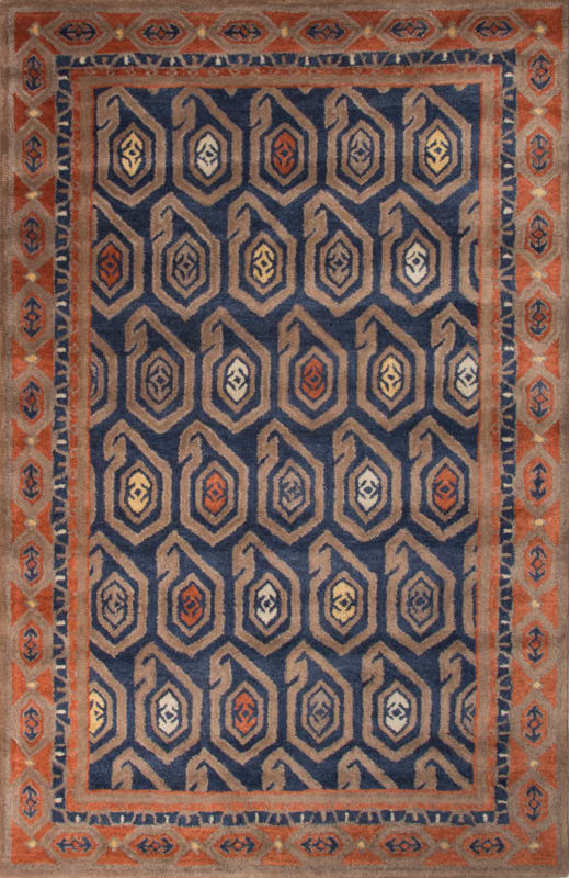 Jaipur Oakland Insignia Blue Rug Contemporary Tribal Pattern Wool Sale $1089.00 ITEM: bci2831554 ID#:RUG127803 UPC: 887962523293 :