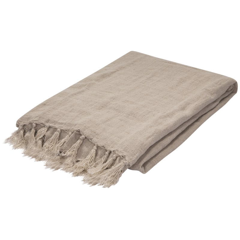 Jaipur MAU04 Ma-01 Pumice Stone Throw Linen Madura Throw Made in India