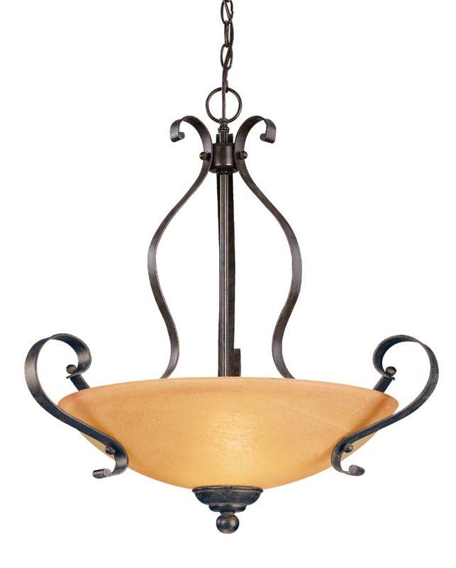Jeremiah Lighting 14424 Brookfield 3 Light Bowl Shaped Indoor Pendant