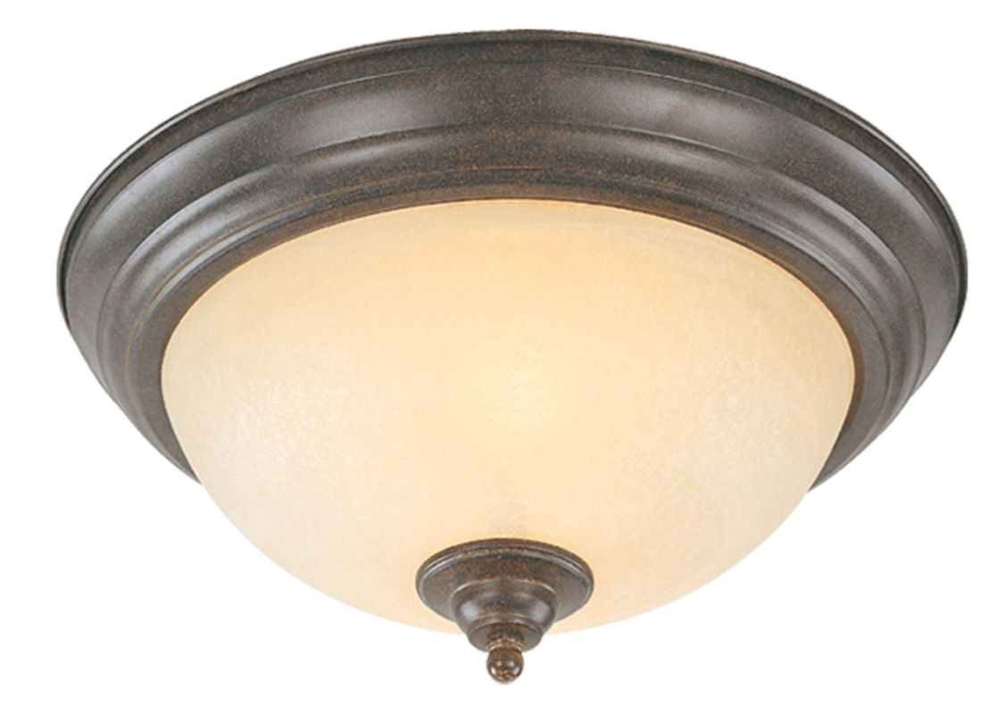 Jeremiah Lighting 20011 1 Light Flush Mount Ceiling Fixture Brownstone