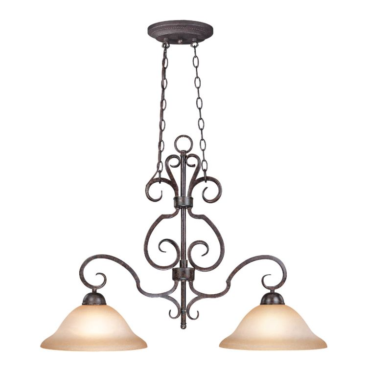 Jeremiah Lighting 22022 Sheridan Single Tier 2 Light Linear Chandelier