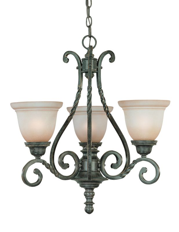 Jeremiah Lighting 22443 Sutherland Single Tier 3 Light Chandelier - Sale $179.00 ITEM: bci1064988 ID#:22443-ET UPC: 80629801165 :