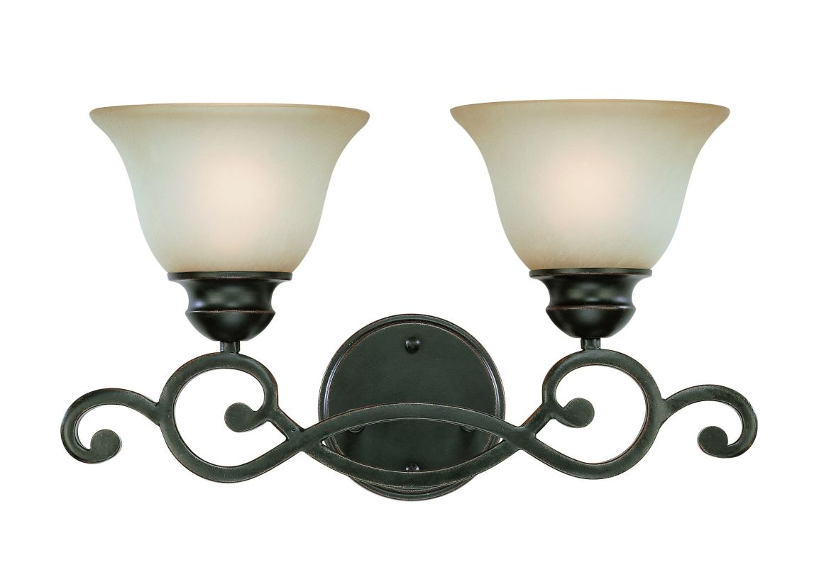 Jeremiah Lighting 23002 Farmington 2 Light Bathroom Vanity Light -