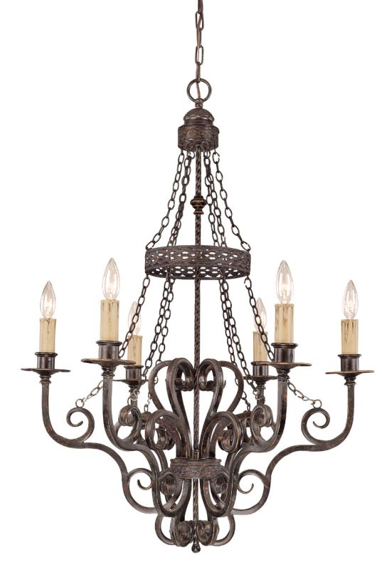 Jeremiah Lighting 23626 Brookshire Single Tier 6 Light Candle Style