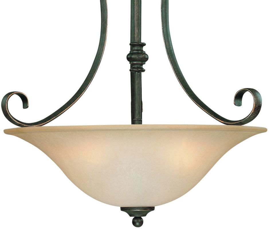 Jeremiah Lighting 24243 Barrett Place 3 Light Bowl Shaped Indoor