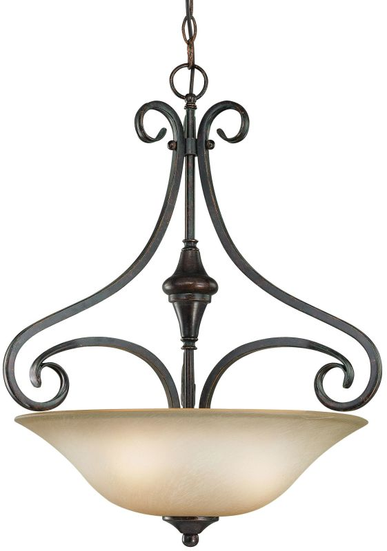 Jeremiah Lighting 24923 Torrey 3 Light Bowl Shaped Indoor Pendant - 19 Sale $229.00 ITEM: bci1065127 ID#:24923-BA UPC: 80629802292 :