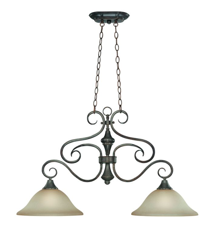 Jeremiah Lighting 24942 Torrey Single Tier 2 Light Linear Chandelier -