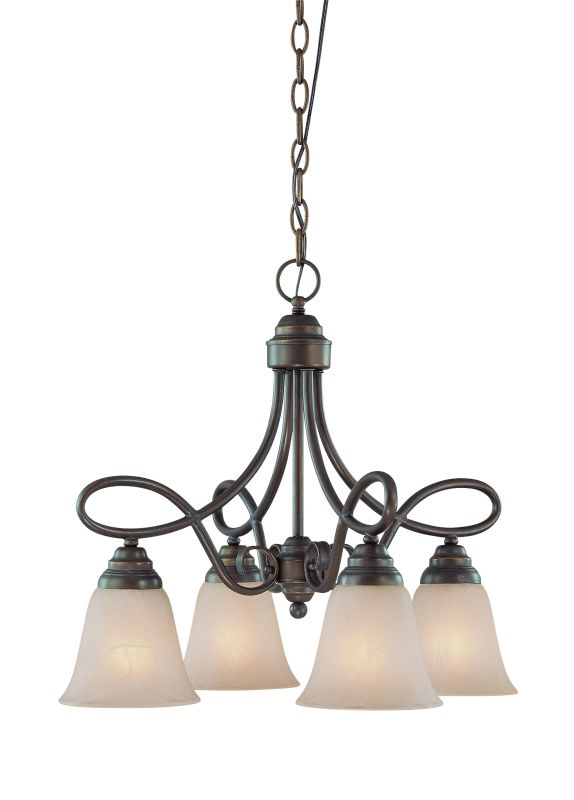 Jeremiah Lighting 25024 Cordova Single Tier 4 Light Chandelier - 21