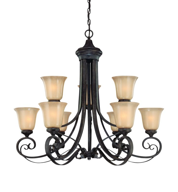 Jeremiah Lighting 25129 Stanton Two Tier 9 Light Chandelier - 34 Sale $579.00 ITEM: bci1064829 ID#:25129-ET UPC: 80629802667 :