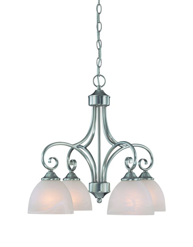 Jeremiah Lighting 25324 Raleigh Single Tier 4 Light Chandelier - 22.5