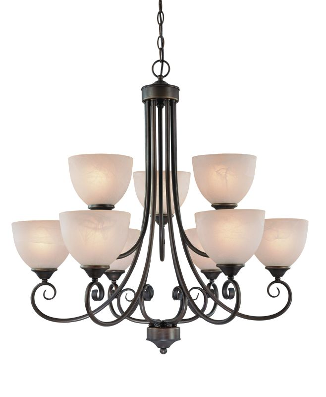 Jeremiah Lighting 25329 Raleigh Two Tier 9 Light Chandelier - 31