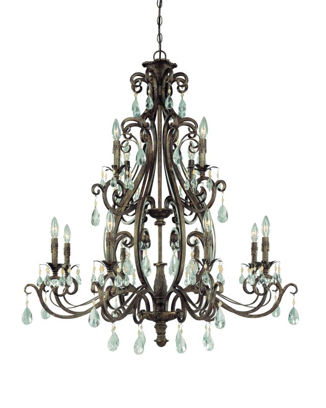 Jeremiah Lighting 25612 Englewood Two Tier 12 Light Candle Style
