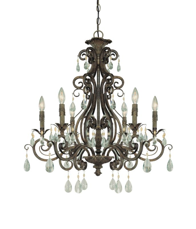 Jeremiah Lighting 25626 Englewood Single Tier 6 Light Candle Style