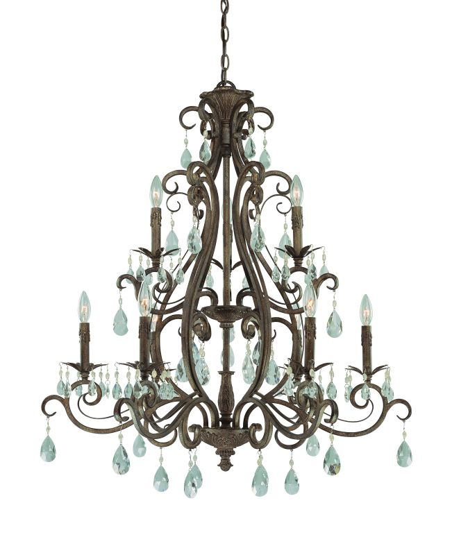 Jeremiah Lighting 25629 Englewood Three Tier 9 Light Candle Style