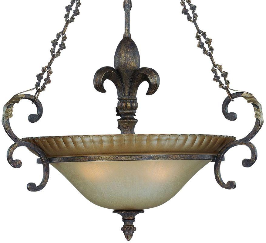 Jeremiah Lighting 25723 Devereaux 3 Light Bowl Shaped Indoor Pendant -