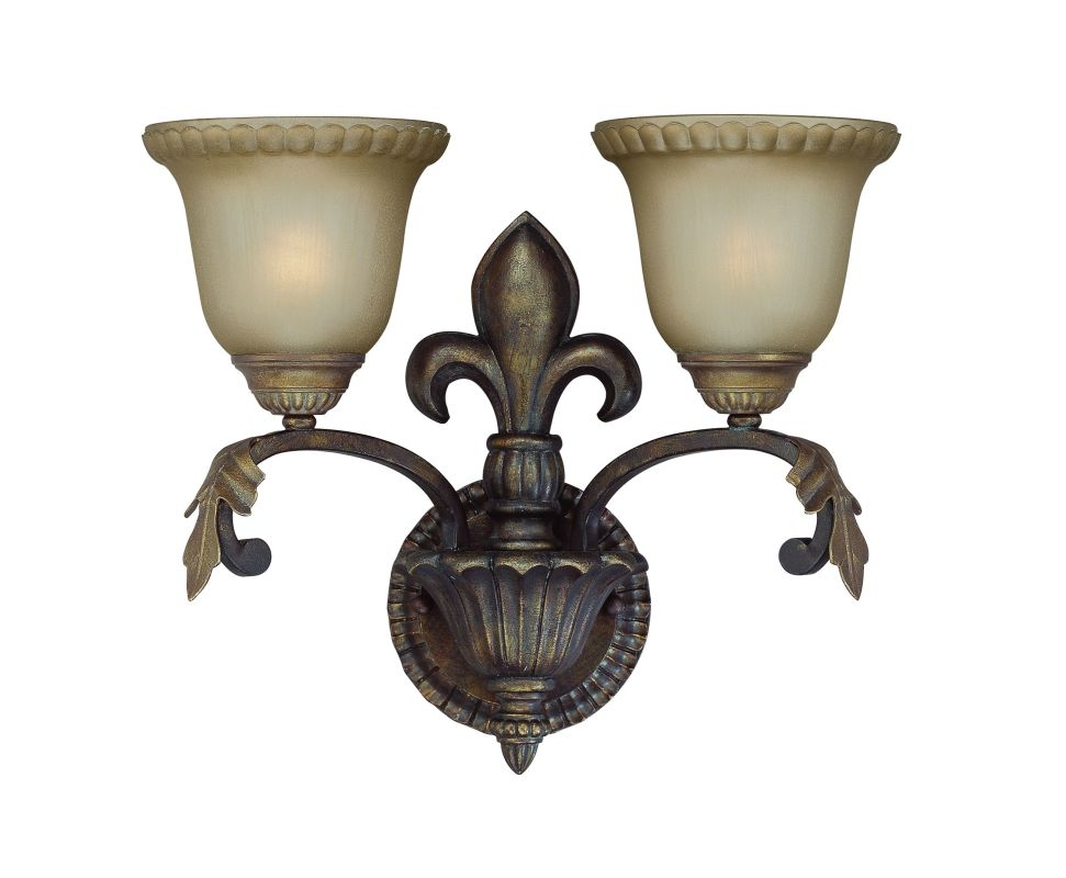 Jeremiah Lighting 25732 Devereaux 2 Light Indoor Wall Sconce - 16
