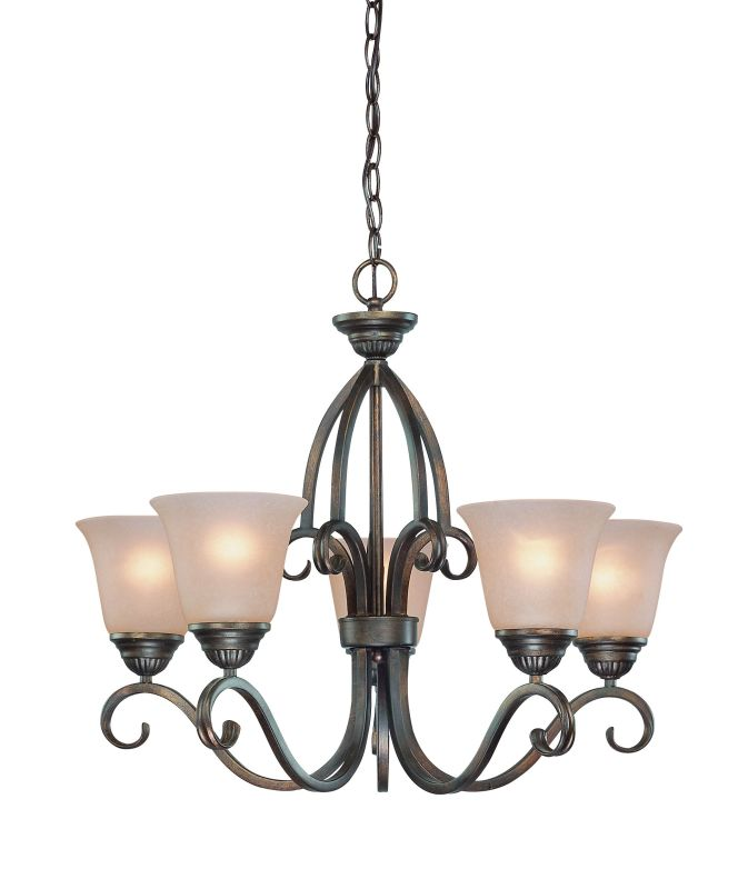 Jeremiah Lighting 26025 Gatewick Single Tier 5 Light Chandelier - 26