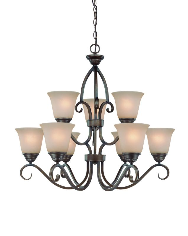 Jeremiah Lighting 26029 Gatewick Two Tier 9 Light Chandelier - 30
