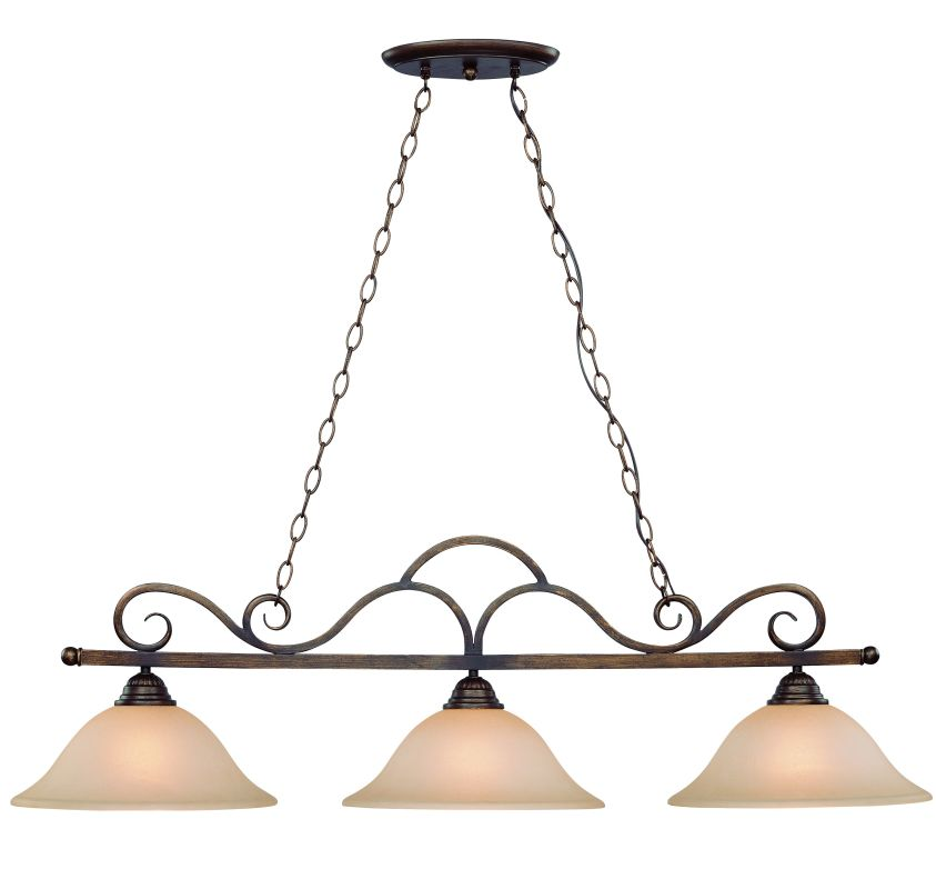 Jeremiah Lighting 26043 Gatewick Single Tier 3 Light Linear Chandelier