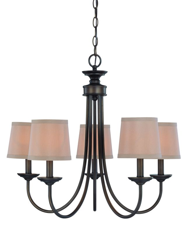 Jeremiah Lighting 26125 Spencer Single Tier 5 Light Candle Style