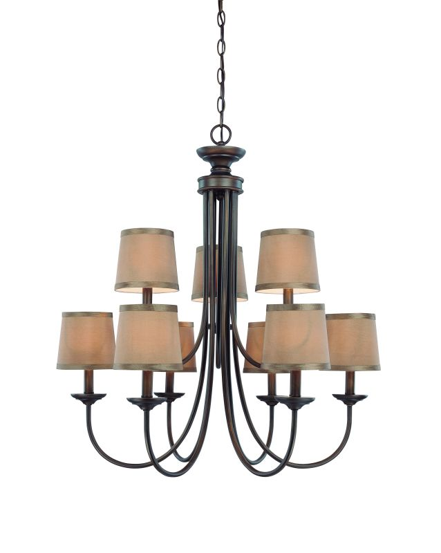 Jeremiah Lighting 26129 Spencer Two Tier 9 Light Candle Style Sale $299.00 ITEM: bci1554433 ID#:26129-BZ UPC: 80629804029 :