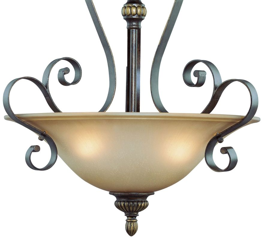 Jeremiah Lighting 26523 Kingsley 3 Light Bowl Shaped Indoor Pendant -