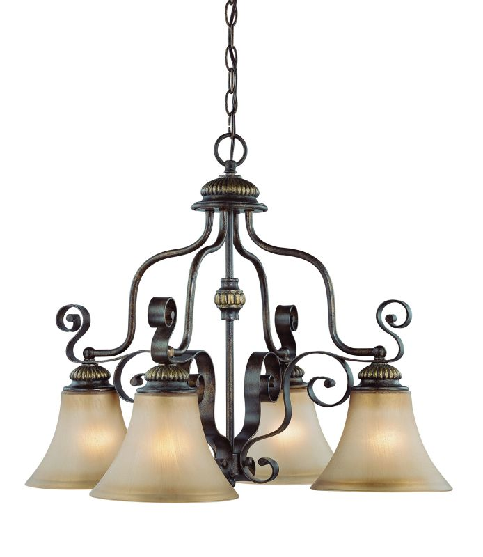 Jeremiah Lighting 26524 Kingsley Single Tier 4 Light Chandelier - 25.5