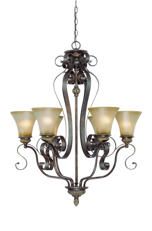 Jeremiah Lighting 26526 Kingsley Single Tier 6 Light Chandelier - 29 Sale $157.00 ITEM: bci1554479 ID#:26526-CB UPC: 80629804500 :