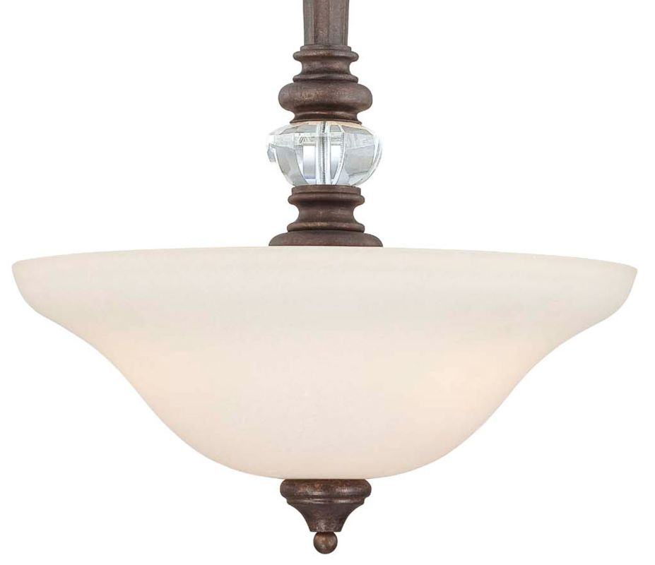 Jeremiah Lighting 27243 Cambridge 3 Light Bowl Shaped Indoor Pendant -