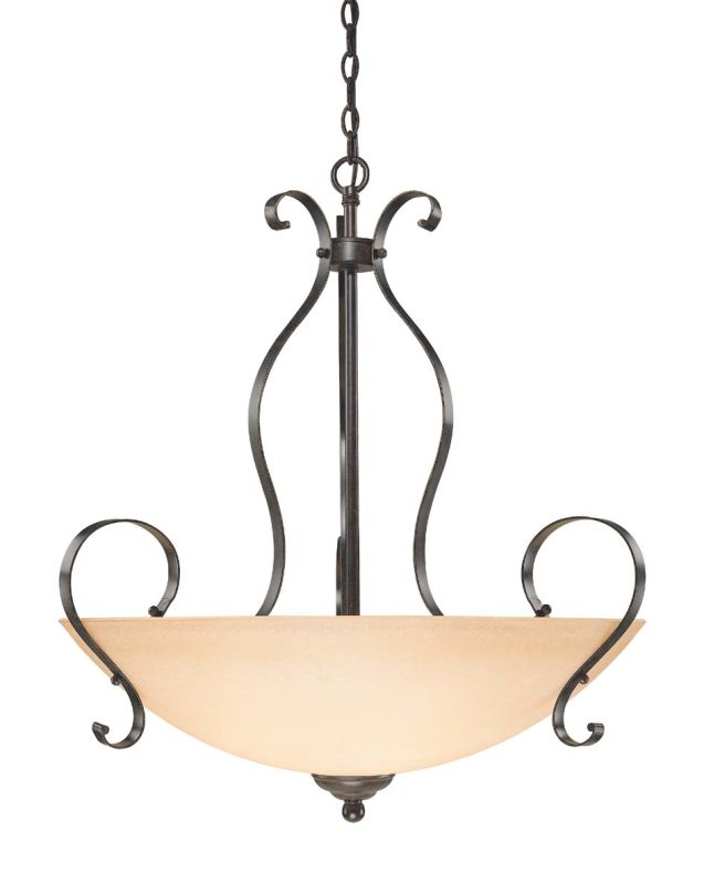 "Jeremiah Lighting 14445 Brookfield 5 Light 31"" Wide Bowl Shaped Indoor"