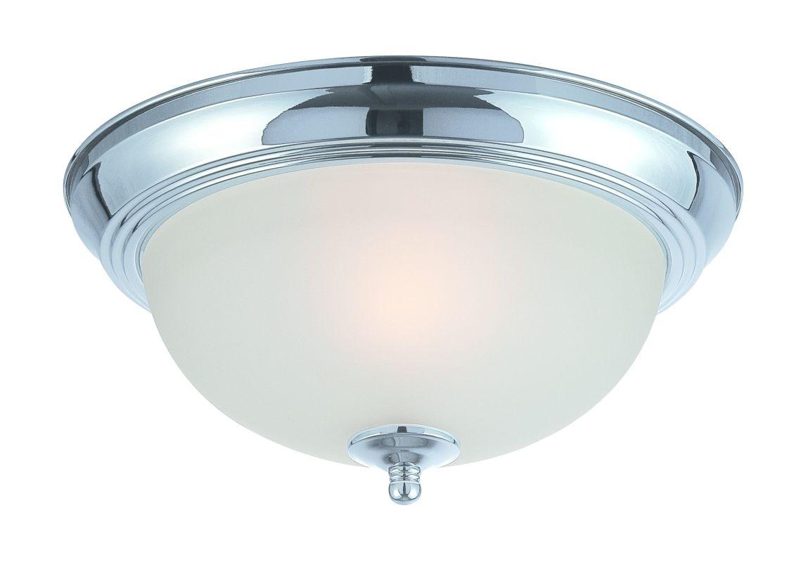 Jeremiah Lighting 20011 1 Light Flush Mount Ceiling Fixture Chrome