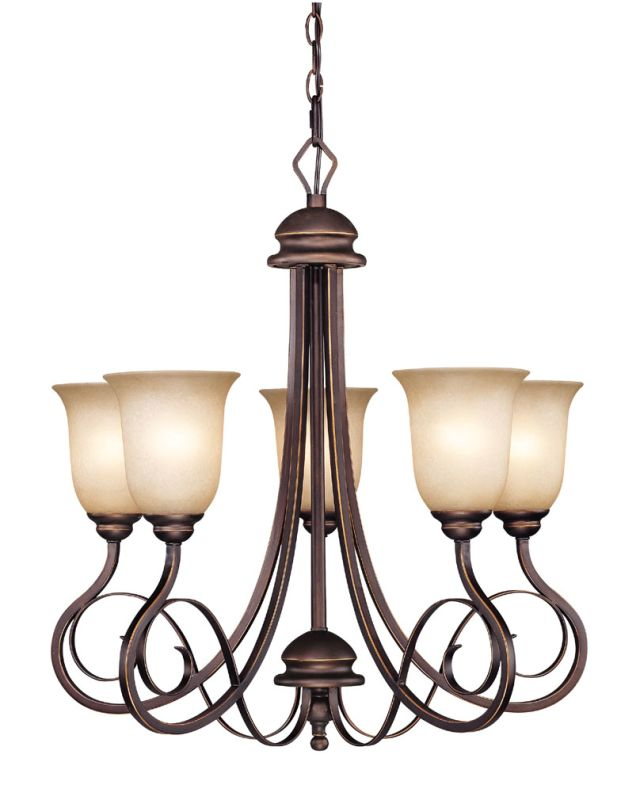 Jeremiah Lighting 21725 Preston Place Single Tier 5 Light Chandelier -