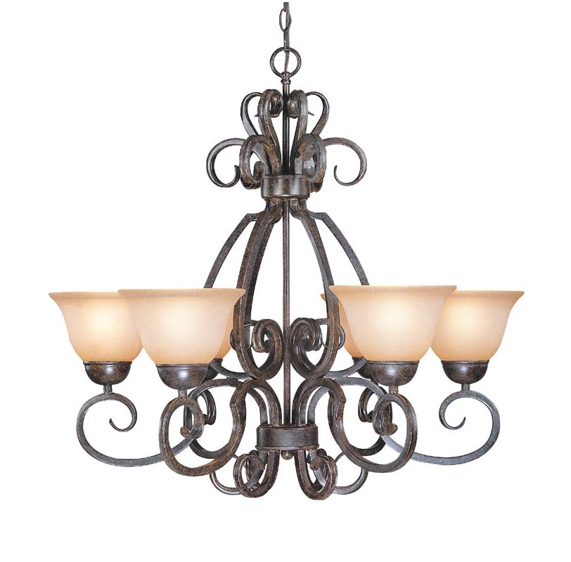 Jeremiah Lighting 22026 Sheridan Single Tier 6 Light Chandelier - 29
