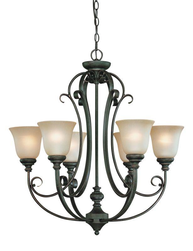 Jeremiah Lighting 24226 Barrett Place Single Tier 6 Light Chandelier -