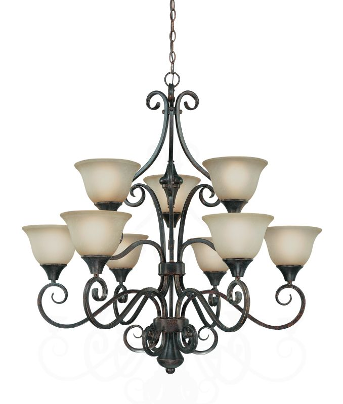 Jeremiah Lighting 24929 Torrey Two Tier 9 Light Chandelier - 35.5