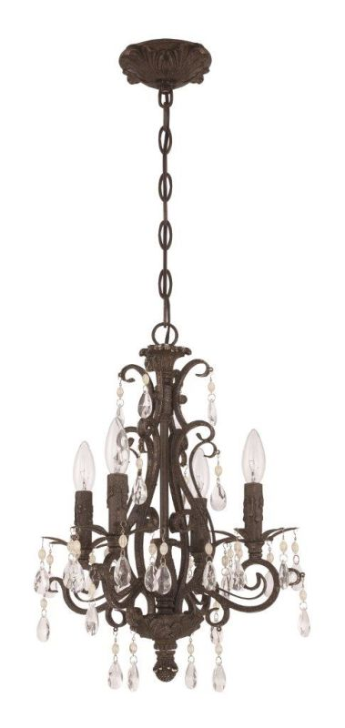 Jeremiah Lighting 25614 Englewood 4 Light Candle Style Chandelier - Sale $249.00 ITEM: bci2679567 ID#:25614-FR UPC: 647881138295 :