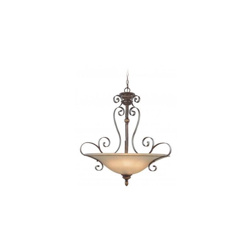 Jeremiah Lighting 26544 Kingsley 4 Light Bowl Shaped Indoor Pendant -