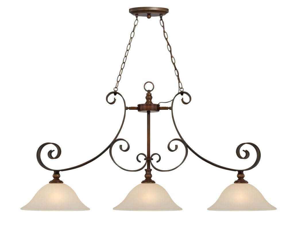 Jeremiah Lighting 28073 Seville Single Tier 3 Light Linear Chandelier