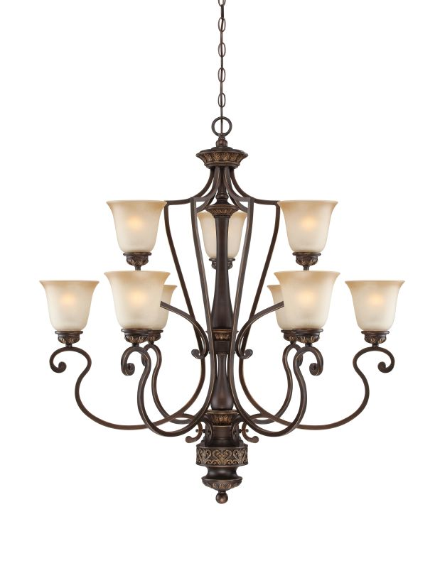 Jeremiah Lighting 28229 Josephine Two Tier 9 Light Chandelier - 36.5