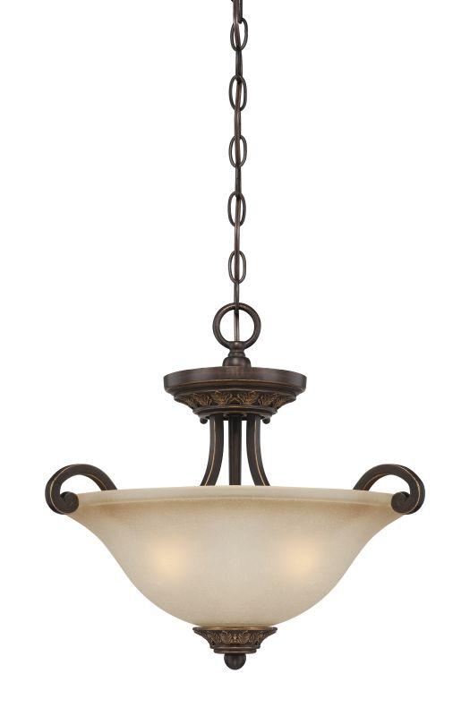 Jeremiah Lighting 28253 Josephine 3 Light Semi-Flush Ceiling Fixture