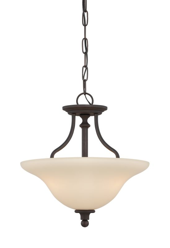 Jeremiah Lighting 28553 Willow Park 3 Light Semi-Flush Ceiling Fixture