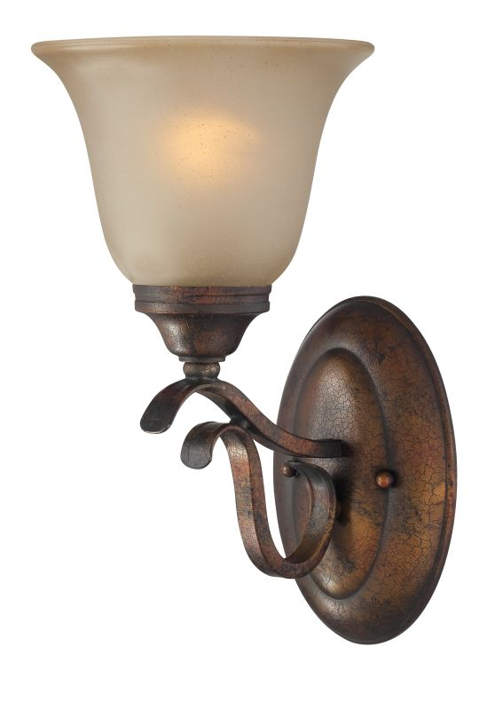Jeremiah Lighting 29001 BBZ Burleson Bronze Mckinney 1 Light Bathroom Wall Sc