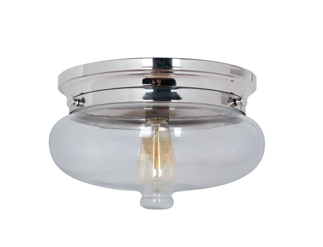 Jeremiah Lighting 35081 Yorktown 1 Light Flush Mount Ceiling Fixture Sale $129.00 ITEM: bci2274295 ID#:35081-PLN UPC: 647881114244 :