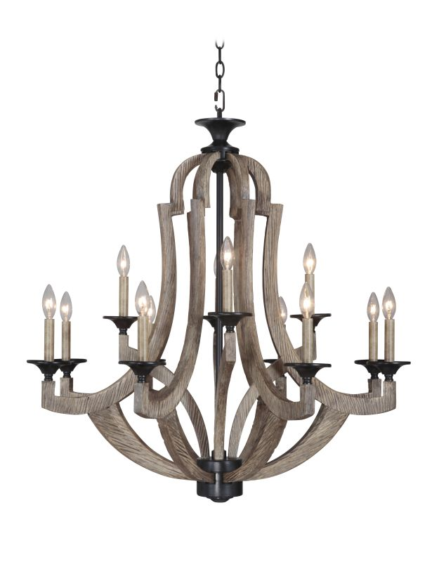 Jeremiah Lighting 35112 Winton Two Tier 12 Light Candle Style