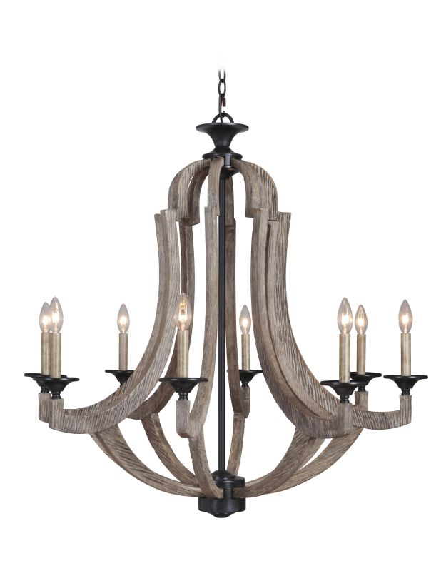 Jeremiah Lighting 35128 Winton Single Tier 8 Light Candle Style