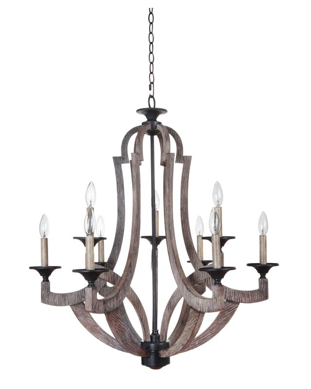 Jeremiah Lighting 35129 Winton Two Tier 9 Light Candle Style