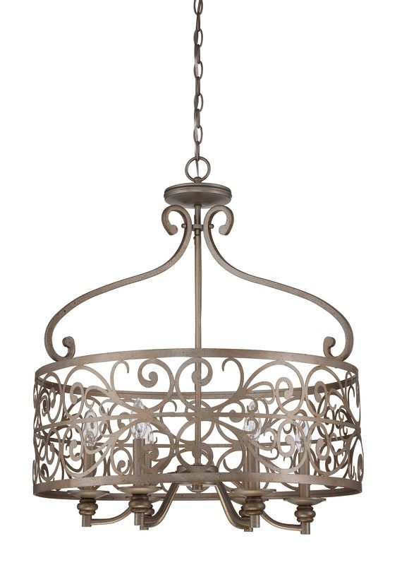 Jeremiah Lighting 35836 Worthington 6 Light Foyer Indoor Pendant -